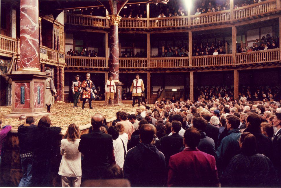 Shakespeare's Globe: one of the most unusual open air theatres in London.