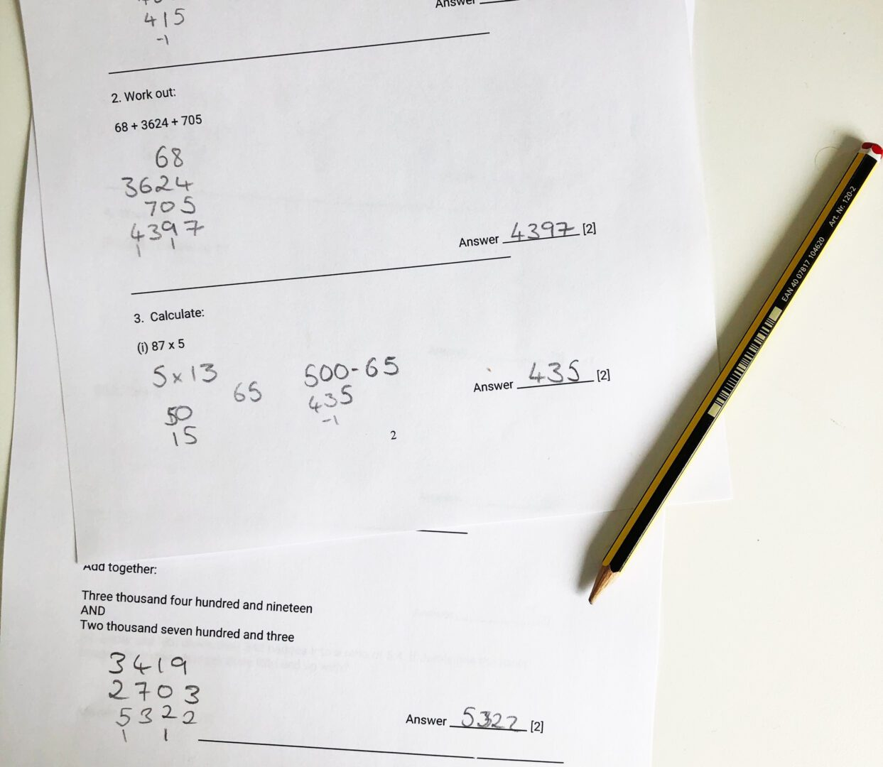 maths 11 plus paper