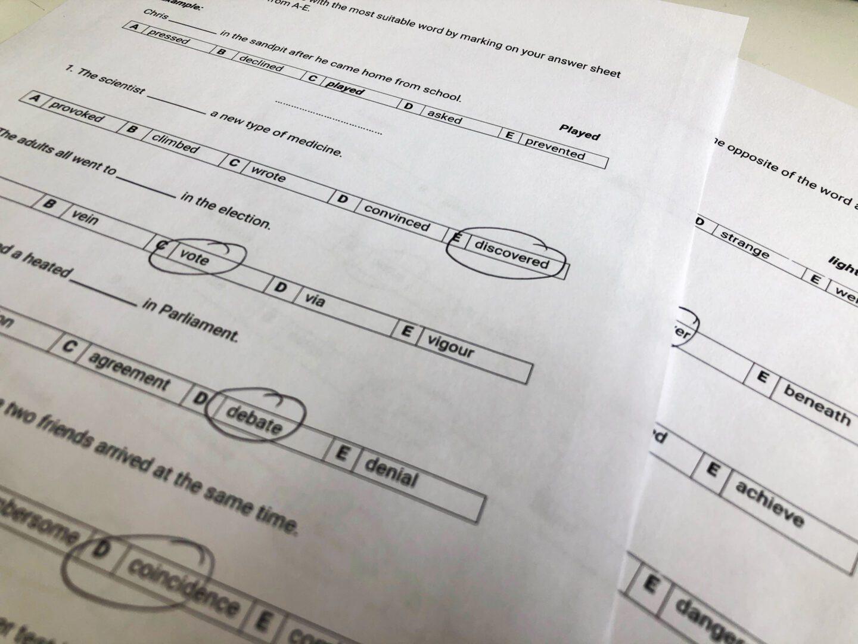 verbal reasoning 7 plus paper